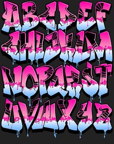 Image of Graffiti Font - Pink Power                                                                                                                                                                                 More