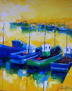 French artist Denis Lebecq--love the color...