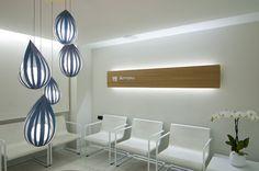 Modern Dental Clinic designed by Vitale studio, Castellón, Spain   The job features the LZF Raindrop Pendant lamp designed by Javier Herrero Studio