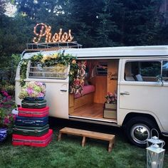Photocall para bodas originales furgoneta blanca