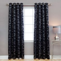 Shop for Aurora Home Modern Foil 96-inch Blackout Grommet Curtain Panel Pair. Get free delivery at Overstock.com - Your Online Home Decor Outlet Store! Get 5% in rewards with Club O!