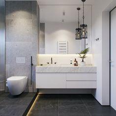 Top 60 best grey bathroom ideas modern bathroom design ideas 2020 grey and white tiles bathroom gray modern bathroom ideas Modern Grey White Bathrooms [. Contemporary Grey Bathrooms, Small Grey Bathrooms, Small Bathroom Colors, Gray And White Bathroom, Gray Bathroom Decor, White Bathroom Tiles, Bathroom Tile Designs, Yellow Bathrooms, Modern Bathroom Design