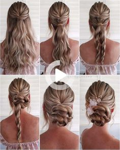 Are you searching for a chic and pretty Wedding Guest Hairstyle tutorials? Scroll down to learn that can be quickly created in 5 minutes! #weddinghairstyles Diy Wedding Hair, Long Hair Wedding Styles, Wedding Hair And Makeup, Bridal Hair, Hair Ideas For Wedding Guest, Wedding Guest Updo, Simple Wedding Updo, Next Wedding, Bridal Gown
