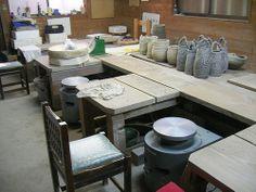 Studio for pottery class-1 by Explore Japanese Ceramics, via Flickr