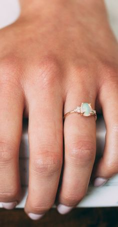 Opal & Diamond Lovestruck Ring