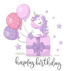 Happy Birthday Greetings Friends, Happy Birthday Greeting Card, Happy Birthday Messages, Princess Party Invitations, Unicorn Birthday Invitations, Happy Birthday Flower, Happy Birthday Princess, Birthday Star, Cute Rainbow Unicorn