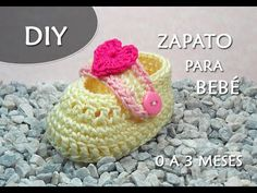 "PATRÓN CROCHET: ZAPATO PARA BEBÉ ""AQUA"" (0 a 3 MESES)   Patrones Valhalla - YouTube"