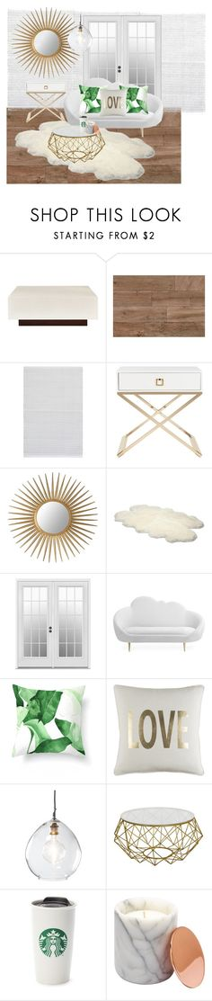 """Untitled #139"" by carlaandreiaf on Polyvore featuring interior, interiors, interior design, home, home decor, interior decorating, Bernhardt, Dash & Albert, Safavieh and UGG Australia"