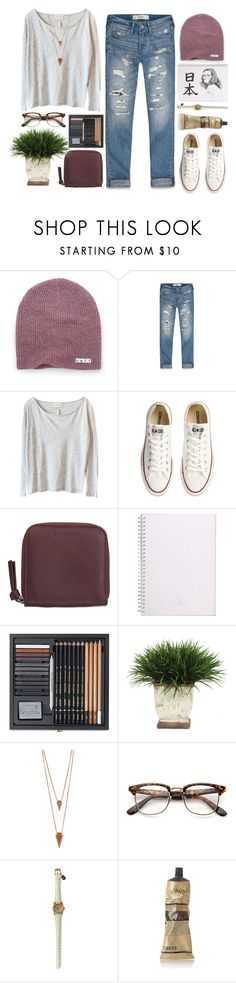 """""""anna."""" by cauchemar-exquis ❤ liked on Polyvore featuring Neff, Abercrombie & Fitch, American Vintage, Converse, Givenchy, Lux-Art Silks, Jules Smith, Aesop and vintage"""