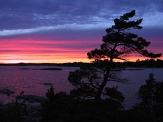 mcgregor bay ontario   Sunset, McGregor Bay, Ontario, Canada