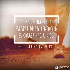 Cuando sientas que vas a ceder a la tentación, recuerda: Dios te ha dado poder para resistir. —Pin it  «Si ustedes piensan que están firmes, tengan cuidado de no caer». —1 Corintios 10:12