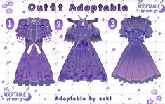 Kpop Fashion Outfits, Anime Outfits, Cute Fashion, Anime Inspired Outfits, Drawing Anime Clothes, Fantasy Gowns, Anime Dress, Fashion Design Drawings, Japanese Outfits