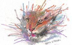 tigre en acuarela