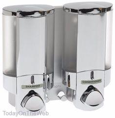 Better Living AVIVA Two Chamber Bath Soap Shampoo & Conditioner Shower Dispenser #BetterLiving