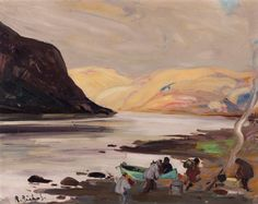 Rene Richard - Ungava 17 x Oil on board Canadian Painters, Oil, Board, Painting, Painting Art, Paintings, Paint, Draw, Sign