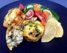 This feta, leek and spinach mini quiche recipe is a great fast dinner or lunch. Pair with your favourite side dishes such as Greek salad or steamed veggies. Healthy Mummy Recipes, Veggie Recipes, Cooking Recipes, Clean Recipes, Diabetic Recipes, Cooking Ideas, Vegetarian Recipes, Food Ideas, Fast Dinners