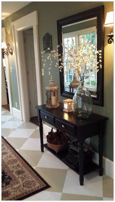 Beautiful Entryway Ideas on a budget! Whether it's a grand house or a tiny nook by the door, your home's entry is the first thing visitors see when they step inside your house and the sight that welcomes you home every day. So make it a good one! Here are some affordable contemporary entryway ideas.   #StyleAtHome #LargeRoundMirror #CircularMirror #LargeMirrorDecor #LargeMirrors #HomeDecorMirrors #VanityDecor #RoundWallMirror #RoundMirrors Rustic Entryway, Entryway Decor, Rustic Decor, Rustic Bench, Entryway Bench, Rustic Farmhouse, Modern Decor, Dining Room Console, Console Tables