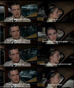 Breakfast at Tiffany's how i feel about relationships.