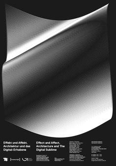 Architecture and The Digital Sublime. Poster for Event at Technische Universität Berlin. Design: Mut, Thomas Kronbichler (design), Julian Koschwitz (coding)