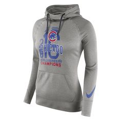 Chicago Cubs Nike Women's 2016 World Series Champions Celebration Championship Year Performance Hoodie - Heathered Gray - $59.99