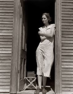1938 Childress, Texas. Nettie Featherston by Dorothea Lange