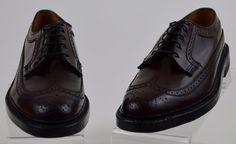 Florsheim Kenmoor Imperial 5 Nail Wingtip Burgundy Leather Oxfords 8 N Ex Used #Florsheim #Oxfords