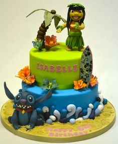 Lilo and Stitch Two Tier Cake - Cake Gallery - Cakeology