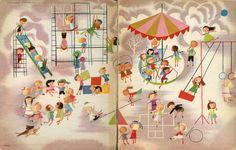 playground--Vintage Illustration By Disney Artist Mary Blair