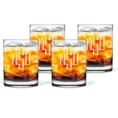 Maestro 14 oz. Double Old Fashioned Glassware Set of 4