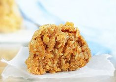 No-Bake Pumpkin Oatmeal Cookies: 3/4C quick oats,1/2C oat flour(blend oats in a food processor until they are powder-measure after blending),1/4t salt,1/4t baking soda,1/4C sugar,1/4t cinnamon,1/3C canned pumpkin,2 1/2T milk,1T oil,1/2t vanilla extract. Combine all dry ingredients and stir very well. In a separate bowl, combine all liquid (including pumpkin). Then stir to combine. Put in the fridge to firm up a little before forming cookies. Form into balls or cookies.