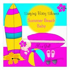 176+ Beach Baby Shower 5.25x5.25 Invitation Cards   Zazzle