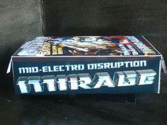 #custranz Mid-electro disruption Mirage #handmade #packaging #boxart #graphicdesign #branding #transformers #custom #contest #prize #autobot