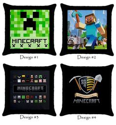 Minecraft Creeper Throw Pillow Case 100% Cotton via Greatest Gift
