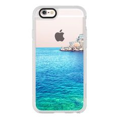 Rather be in Greece -- Transparent -- Summer Beach - iPhone 6s... ($40) ❤ liked on Polyvore featuring accessories, tech accessories, iphone case, apple iphone cases, iphone cover case, clear iphone cases, iphone cases and iphone hard case