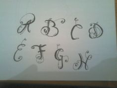 Algumas letras que eu faço em tatuagem... #Rubenc