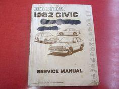 1982 Honda Civic Sevice Manual Honda Motor by ReuttersGeneralStore, $15.00