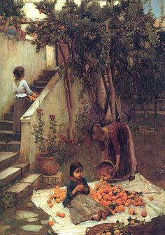 The Orange Gatherers John William Waterhouse (1890)