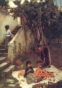 The Orange Gatherers John William Waterhouse (1890)