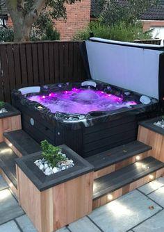 Hot Tub Gazebo, Hot Tub Garden, Hot Tub Backyard, Backyard Patio, Small Garden Jacuzzi, Jacuzzi Outdoor, Outdoor Spa, Deck Jacuzzi Ideas, Outdoor Hot Tubs