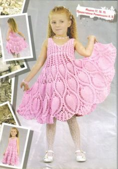 Childs Dress ~ Translation Available ~ Scroll down blog about half way for pattern