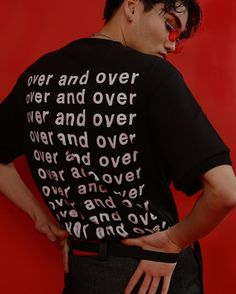 ESC STUDIO 2016 s/s 'over and over' back print over short t-shirt designer. @esc_studio art director. @limdongjoon photographer. @sup2rmagic model. @wookzlee