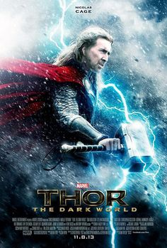 Cage as Thor