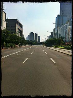 Empty street of Jakarta