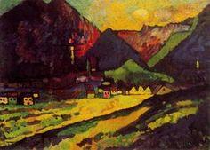 Wassily Kandinsky - Murnau Landschaft