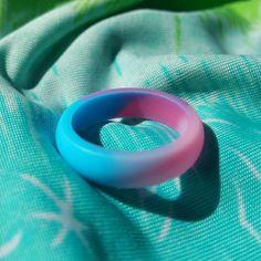 Camo Pink Fuchsia Aqua Silicone Women Female Girl Wedding Fashion Ring 6 7 8 9 #Unbranded #SiliconeWeddingRingBand