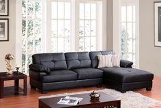 SOFA L COLOR NEGRO - Salas - Sofas - Muebles de sala