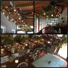 Rustic  quaint back porch lighting using an old ladder  globe lights and  grapevine garlandsGrapevine Garland Decorating Ideas   Here you see it being used  . Grape Vine Lighting. Home Design Ideas