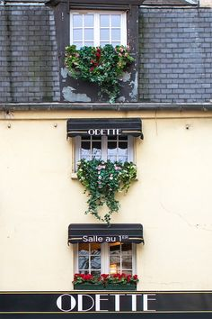 """""""Windows at Odette"""" - The cutest pastry shop in Paris? Odette's on the Left Bank, serving hand-crafted Choux á la Crème."""