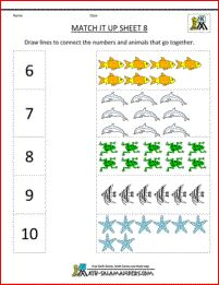 Numbers and counting worksheets for preschool and kindergarten. Other preschool and kindergarten math worksheets available include patterns, more . Matching Worksheets, Printable Math Worksheets, Number Worksheets, Worksheets For Kids, Addition Worksheets, Lkg Worksheets, Animal Worksheets, Printable Alphabet, Tracing Worksheets