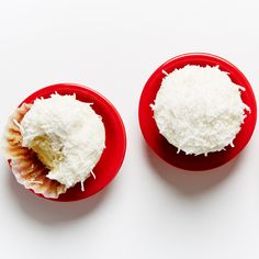 The Perfect Frosted Coconut Cupcake recipe #BiteMeMore